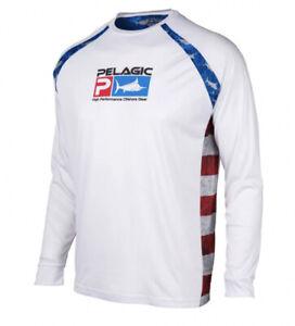 Men's Pelagic Vaportek Sideline Americamohex White Blue Red Multi Size