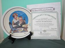 Norman Rockwell 1992 Mother'S Day Plate, #1917A, Coa, Edwin Knowles Fine China