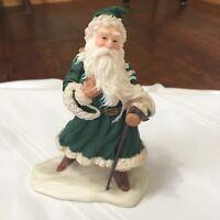 "Hallmark - Heirloom Santa Collection - Christmas Greetings 1991  6"" Green Robe"