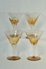 JULIA KNIGHT Argento Cocktail Glass Buttercream Set/4  Italy New