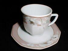 Winterling Bavaria China Pink Rim White Flower Demi/Demitasse Saucer/s Only