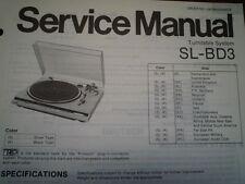 TECHNICS SL-BD3 giradischi Servizio Manuale diagramma di cablaggio parti