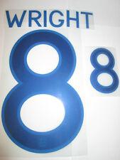 Wright no 8 England Home Football Shirt Name Set Adult Sporting ID