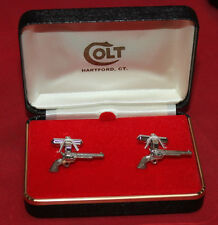 COLT Firearms Factory Single Action Army Sterling Silver cuff links Mint