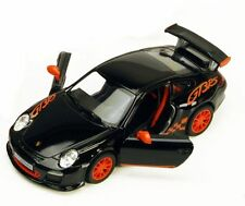 New Kinsmart 2010 Porsche 911 GT3 RS Diecast Toy Model 1:36 Pull Action Black