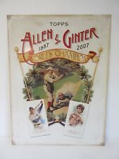 2007 Topps Allen & Ginter Bruce Lee Metal Game Room Sports Sign Baseball Card