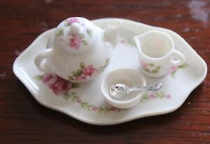 VINTAGE FINE CHINA TEA SET BY AVON MINIATURES FROM UK 1:12