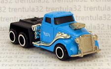 BIG RIG SEMI TRACTOR TRAILER CAB Car Carrier Hauler blue black HOT WHEELS LOOSE