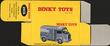 Copy box empty dinky toys atlas citroen 25 g type u hy 1200 kg gervais