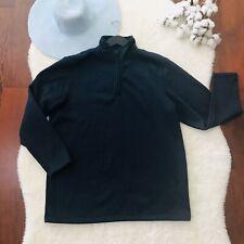 Mack Russo Fleece Jacket 1/4 Zip Pullover XL Navy