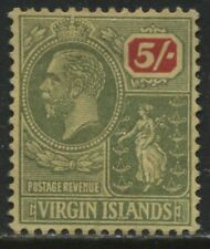 Virgin Islands KGV 1922 5/ unused no gum