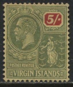 Virgin Islands KGV 1922 5/ unused no gum