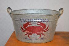 bac en zinc pour  poissons et  fruits de mer (petit modèle)