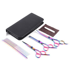 US Stock Pet Dog Cat Grooming Scissors Comb Set Straight Curved Thinning Kits