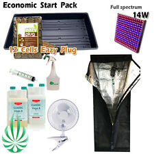 Seeding and Cloning Economic Hydroponics Start Package CANNA LED Light COCO Tray