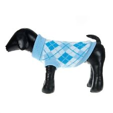 DOG JUMPER HOODY CHIHUAHUA YORKIE PUPPY TOY 21CM TEACUP TINY PALE BLUE  CHECK