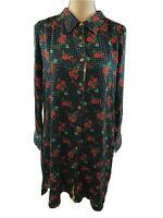 NEW Matilda Jane Women's Multi-Color Floral Fa La La Shirt Dress Sz S