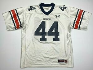 Under Armour #44 Auburn Tigers Football Jersey NCAA White Men Size Large