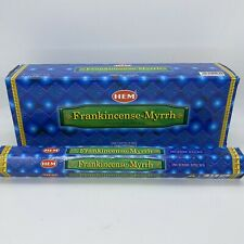 HEM FRANKINCENSE-MYRRH INCENSE STICKS 20 STICKS NEW IMPORTED FROM INDIA