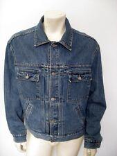 RRL Cinch Back Buckle Back Two Pocket Denim Jean Jacket USA MADE Size XL