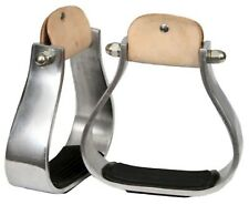 Showman Wide Aluminum Western Saddle Stirrups W/ Rubber Grip Tread! HORSE TACK!