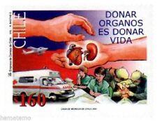 Chile 2001 #2054 Donar Organos es Donar Vida MNH