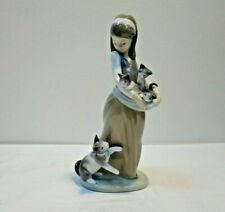 Lladro Figurine - Following Her Cats - 1309