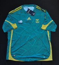 SOUTH AFRICA Futbol Soccer JERSEY Green ADIDAS Lucas Radebe Signed LARGE NWT