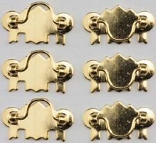 20pcs Dollhouse Miniature 1:12 Scale Gold Brass Cabinet Drawer Handles Pulls RS
