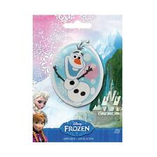 Disney Frozen Olaf Embroidered Iron On Sew Patch Badge Applique padded satin