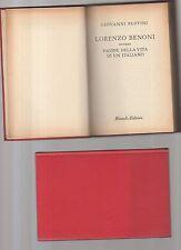 lorenzo benoni  - giovanni ruffini - bur copertina rigida rossa