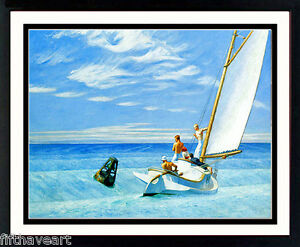 Edward Hopper  Art Custom Framed Print  Ground Swell