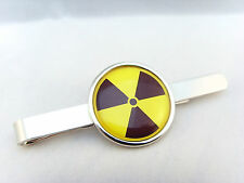 RADIOACTIVE RADIATION SYMBOL HAZARD WARNING NUCLEAR BIO ATOM TIE SLIDE GRIP BAR