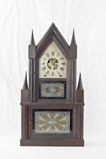 Double steeple clock w/ rare double fusee movement @ 1845 JJ Beals & Co., Boston