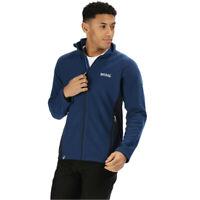 Regatta Mens Tafton Zip Fleece Top - Blue Sports Outdoors Breathable Lightweight