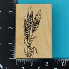 Wheat Stalks Farming Natures Harvest Wood Mounted Rubber Stamp