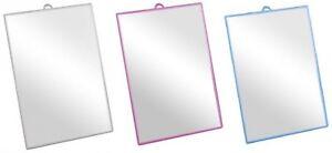 Shaving Mirror Vanity Make Up Mirror Freestanding hanging in Pink Blue or Grey