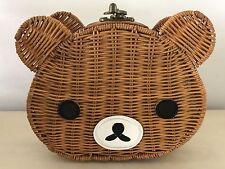 Rilakkuma Brown Bear Rattan Crossbody Bag