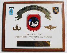 MAC V SOG Camp Long Thanh (B-53) Plaque, Reconnaissance