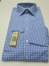 "Camisa para hombre Thomas Pink-Collar 17"" - Azul-Slim Fit-la libra esterlina -..."