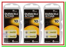 18 DURACELL 10 PR70 Batterie Activair Protesi Pile per Apparecchi Acustici Udito