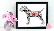 Personalizzato Border Terrier Word ARTE REGALO CANE PET BOMBONIERA A4