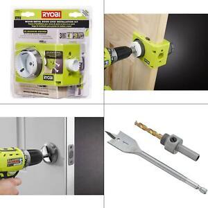 wood/metal door lock installation kit