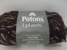 Patons Uplands Yarn ~#5 Bulky ~ Wool Blend  Chocolate Cherry Mix  3.2 oz  99 yds