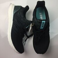 adidas UltraBOOST Boost 4.0 Parley Running Shoes Core Black White Blue Mens New