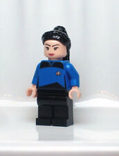 A1134 Lego CUSTOM PRINTED Star Trek INSPIRED DEANNA TROI MINIFIG Data Picard