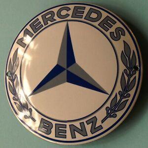 MERCEDES BENZ = Stuttgart Tür- Emailschild MAKELLOS Auto Daimler = WEIßE VERSION