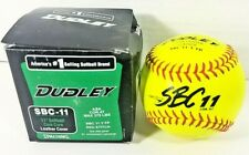 Dudley 11� Sbc 11 Y Asa Yellow Leather Fastpitch Softball Lot of 10 Red Stitch