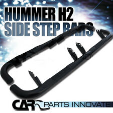 "2003-2010 Hummer H2 3"" Black Stainless Steel Side Step Nerf Bars"