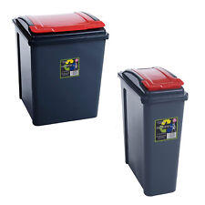 25l Recycle Recycling Plastic Waste Bin Bins for Kitchen Home Office Rubbish Red